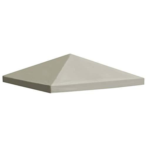yorten Copertura Superiore per Gazebo, Telo di Ricambio per Gazebo 310 g/m² 3x3 m Marrone con Rivestimento in PVC
