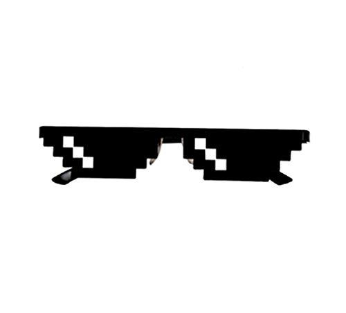 BBTshop Thug Vita Occhiali 8 Pò Pixel Affare Con E Occhiali Unisex Occhiali Giocattolo (Nero 2)