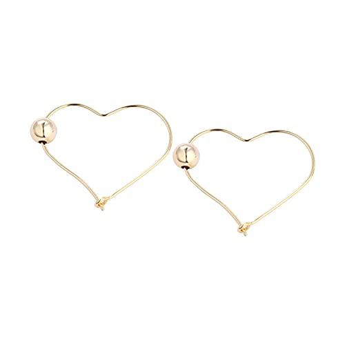 1 pieza de pendientes de aro con forma de corazón para niñas y accesorios diarios