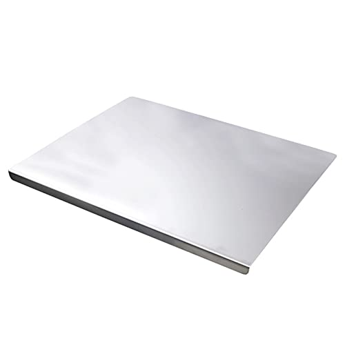 Cutting Boards, Stainless Steel Worktop Saver Chopping Square Edge, Easy to Clean, Slip-Resistant, Best for Meat Fruit,5 * 6