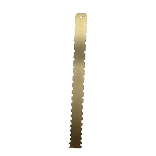 Regla con muescas para el cuello de la guitarra de acero inoxidable con muescas, herramienta Luthiers (color: dorado)
