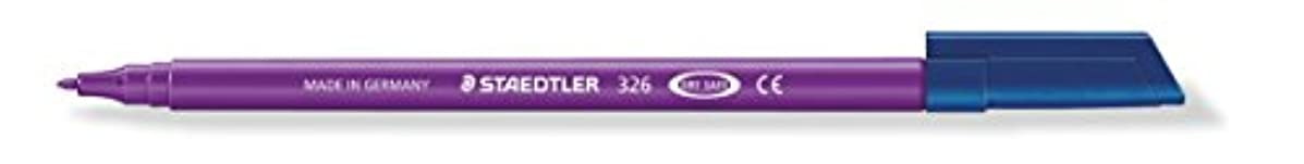Staedtler Noris Club 326–6 tip Approx. 1.0 mm, Washes Out, Pack of 10 in Cardboard Box, Purple