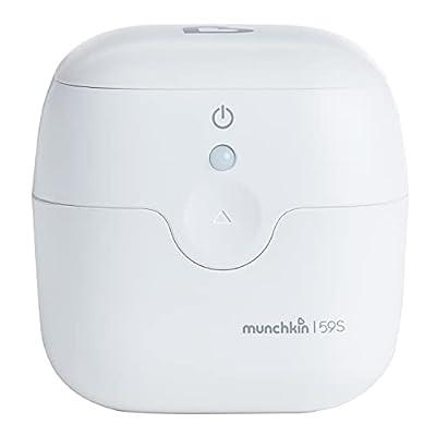 Munchkin Portable UV Sterilizer, Kills 99% of Germs in 59 Seconds, White, Mini UV Light Sanitizer
