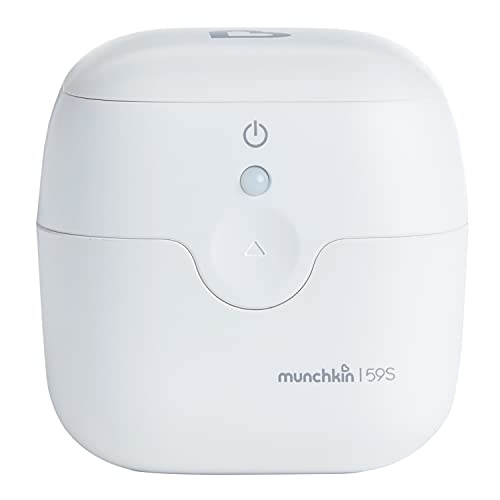 Munchkin Portable UV Sterilizer and Sanitizer Box, Eliminates 99.99% of Germs in 59 Seconds, Mini UV-C Cleaner for Pacifiers and More, White
