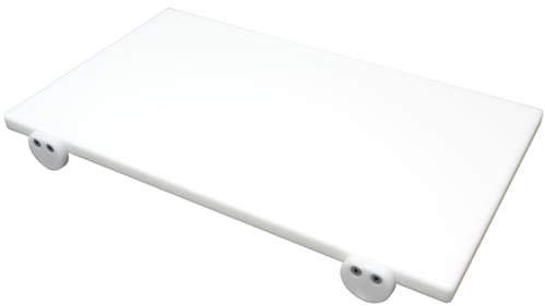 Tagliere in polietilene professionale bianco 60x40x2 con fermi
