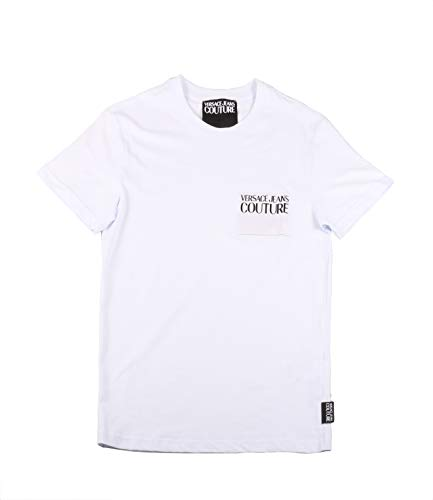 Versace Jeans Couture Herren T-Shirt Pullunder, Weiß (Bianco Ottico 003), Large