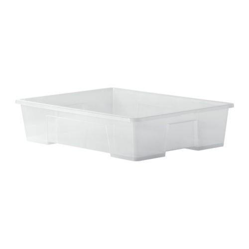 IKEA SAMLA Box 55 Liter; transparent