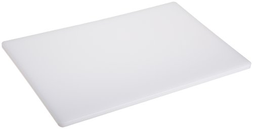 Plastic Cutting Board 18x30 1/2' Thick White, NSF Approved Commercial Use