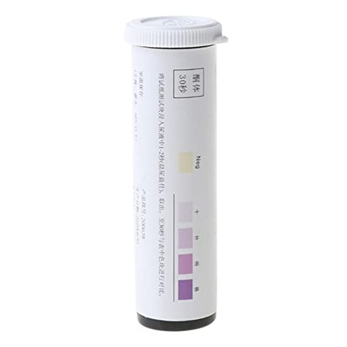Mijpojan Herramientas de mano de 25 tiras/set Tiras de prueba de cetona Termas de orina Tester Reactivo Strip anti-VC Prueba de Atkins Dieta Pérdida de peso Analizar Análisis URINARIO URS-1K