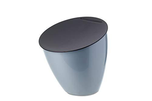 Mepal – poubelle de table Calypso - Nordic blue - 2200 ml - idéale comme petite poubelle de cuisine - Le couvercle ferme bien - prend peu de place sur le plan de travail – convient au lave-vaisselle