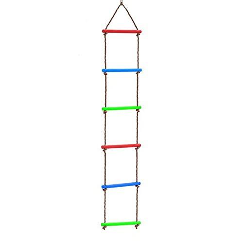 MIAOLEIE El plastico Escalera de Cuerda Exterior Conjuntos de Juego Escalera Colgante por Niños, Patio de recreo Escalera Colgante por Casa del árbol Línea Ninja Juego de Juego