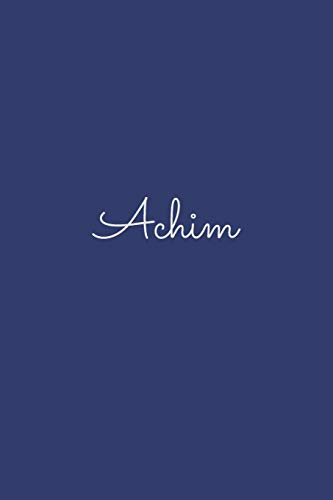 Achim: notebook with the name on the cover, elegant, discreet, official notebook for notes, dot grid notebook,