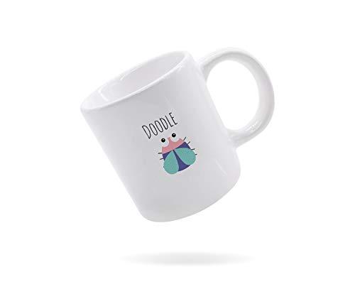 Doodlebug, tazza carina tazza, Doodle Bug, tazza bianca, 311,8 g, tazza da caffè, tazza fatta a mano, tazza, regalo per chiunque, artista, scarabocchi, disegno