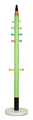 Cortesi Home Mean Mint Green Pencil Kids Coat Rack Tree with Marble Base