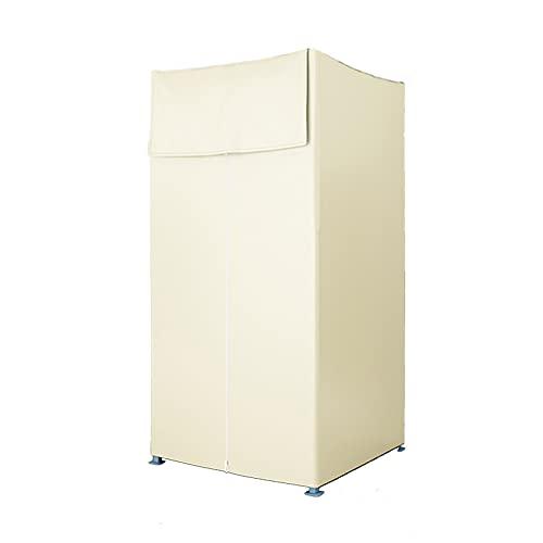 HRD Simple Portátil Vestuario Plegable Probador con Estructura de Metal Tela de...