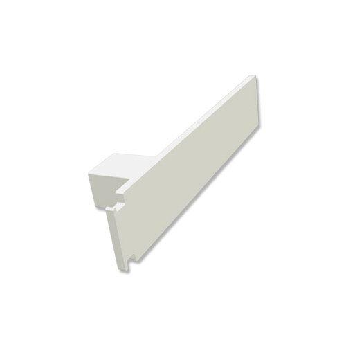 INTERDECO Endkappen/Seitendeckel Weiß für Gardinenschiene 1- / 2- und 3-läufig Concept (2 Stück)