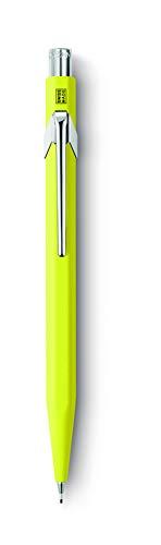 Caran d'Ache 844 - Portaminas (0.7 mm), amarillo - Portaminas Metal Classic amarillo fluor