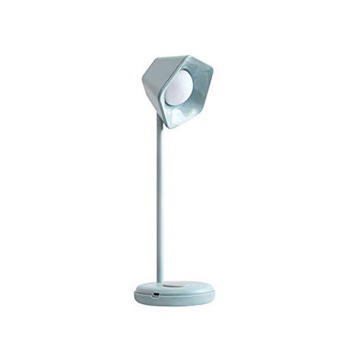 Pentágono, simplicidad, regulable, oficina para trabajo, luz de lectura LED, con puerto de carga USB, portátil y compacto, sensible al tacto, lámpara de mesa para cuidar los ojos