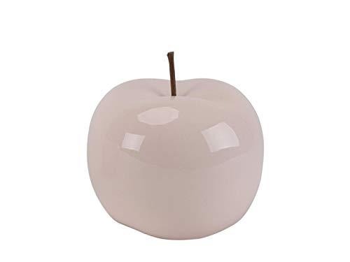 meindekoartikel Deko-Apfel Lüster aus Keramik rosa – Ø 12cm x Höhe 12cm