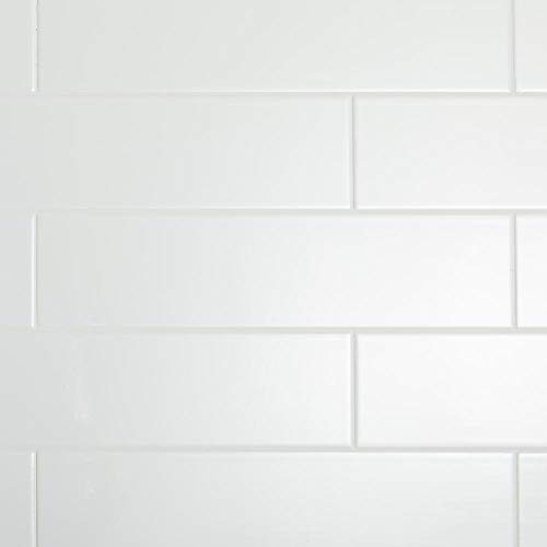 Restore Bright White 4 in. x 16 in. Ceramic Subway Wall Tile (13.20 sq. ft. / Case)