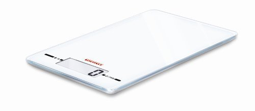 Soehnle Page Ultra Thin Evolution Kitchen Weighing Scale 9.9 mm Thin - White by Soehnle