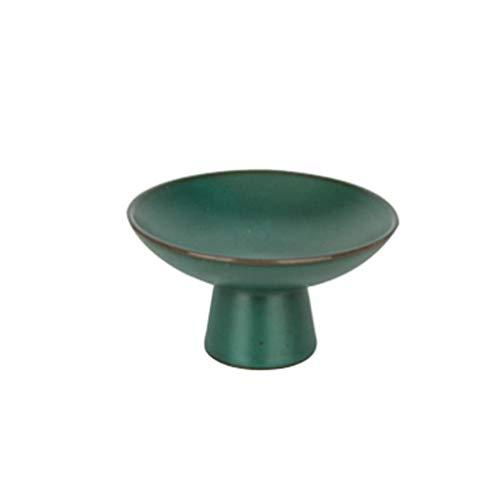 YAeele Esmalte verde de la torta redonda del soporte de la torta creativa de los pies del soporte del soporte del postre la bandeja de la pantalla de la magdalena