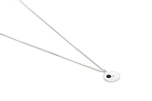 Louise Kragh - Halskette silber - gold plattiert-Anhänger Rohdiamant und po