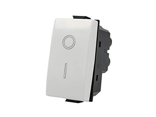 SANDASDON SD60002 Interruttore 2P 16A Bipolare 0-1 Compatibile Bticino Matix