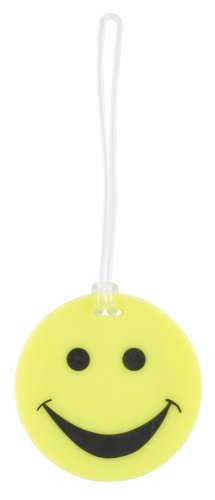 Lewis N. Clark Smiley luggage tag yellow