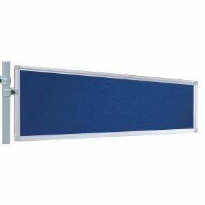 Franken Präsentations-Stellwand 30x120 cm blau/Filz