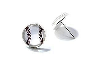 Baseball Ohrringe Jewelry, Baseball Glas Ohrringe, Baseball Ohrring Ohrstecker
