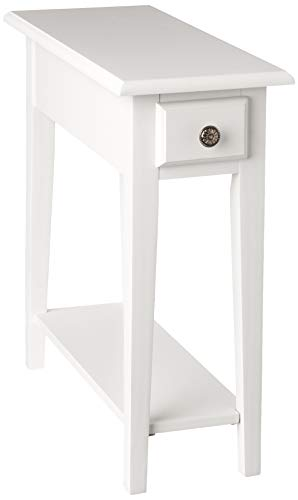 Frenchi Home Furnishing Chair Side Table with Storage, Queen