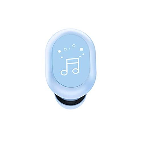 Auriculares de un solo oído Auriculares inalámbricos de un solo lado F911 Diseño de cuerpo artificial táctil Single Ear 5.0 Mini S8 Auriculares inalámbricos estéreo verdaderos todo en el oído - Azul