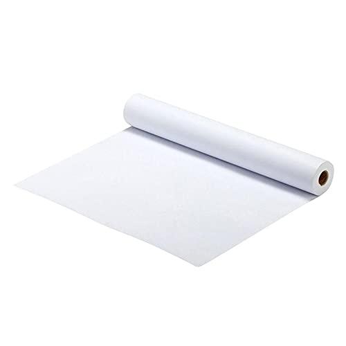 HDMJ Rollo de Papel de Dibujo Rollos de Papel de Dibujo de Papel Rollos de Papel para niños Craft Actividad y Pintura Arte Acuarela Papel Adecuado para; Cuadro (Color : White, Size : 2500X44CM)