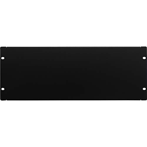 NavePoint 4U Blank Rack Mount Panel Spacer for 19-Inch Server Network Rack Enclosure Or Cabinet Black