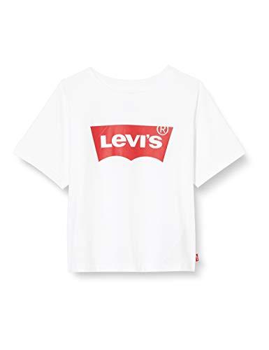 Levi's Kids Lvg Light Bright Cropped Top Camiseta Niñas White 8 años