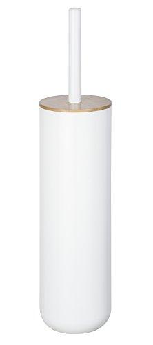 WENKO 23349100 WC-Garnitur Posa - WC-Bürstenhalter, geschlossene Form, 7,5 x 37 x 7,5 cm, weiß