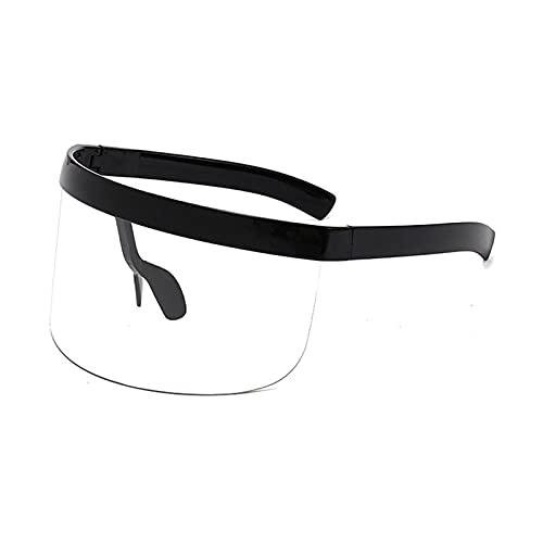 Gafas De Sol Hombre Mujeres Ciclismo Gafas De Sol Sin Montura para Mujer Al Aire Libre Gafas Deportivas Gafas De Sol para Hombre Gafas De Sol-Black_Clear