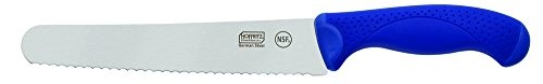 Hoffritz Commercial Top Rated German Steel Bread Knife with Non-Slip Handle for Home and Professional Use, 8-Inch, Navy
