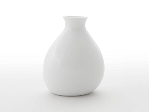 Original japanische Sake-Karaffe Yuuki, ca. 400 ml. Feinstes Porzellan, traditionelle Handarbeit, echte Unikate. Weiß, edle Transparenz, Design-Auszeichnungen, spülmaschinenfest