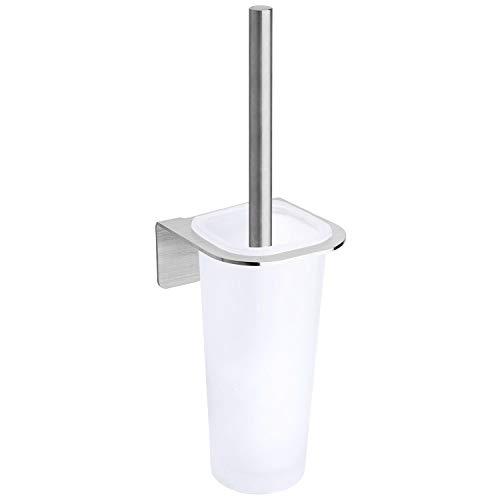 WEISSENSTEIN Toilettenbürsten Set ohne Bohren - Glashalterung zum Kleben
