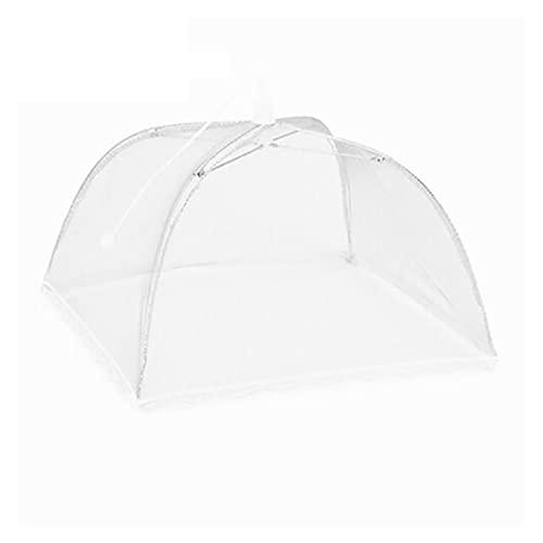 LiQinKeJi8 Reutilizable Comida para el hogar Plegable Umbrella Net Cover Picnic Barbacoa Fiesta Fly Mosquito Net Tent Cocina Gadgets para Fiestas al Aire Libre, barbacoas (Color : White)