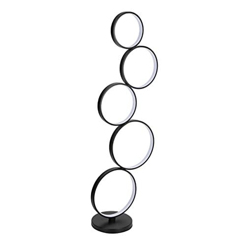 Guadang Poupular creativo LED Lámpara de la sala de estar dormitorio línea vertical minimalista Negro Iluminación Lámparas Círculo simple moderna (Body Color : 45W cold light)