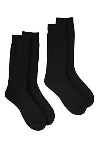 Mountain Warehouse Merino Explorer Thermal Socks Smooth Toe Seam Boot Socks Fully Padded Running Socks Antibacterial Wool Socks Non Grip Welt For Cold Winter Weather Black 7 11