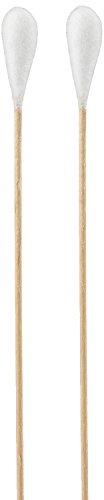 Meditrade 1264 wattenstaafje, steril, groot hoofd, houten handvat, 15 cm lengte (100 stuks)
