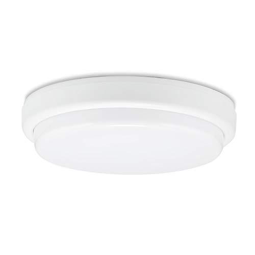 Sweet Led Série BL-1 Lampe pour pièce humide IP54 8 W/18 W 4000 K Forme ronde/ovale Lampe pour salle de bains, cave et jardin, PVC, 18W-Rund