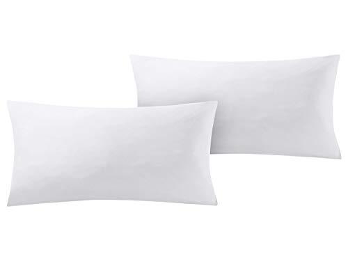 Meradiso 2 x Renforce Kissenbezüge für Kissen 40 x 80cm Weiß