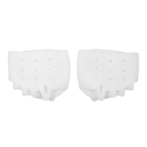 Orthopädische Zehenspreizer für Hallux Valgus Hammerzehen und Ballenzehen Silikon Soft-Gel Behandlung Ihrer Füße, für Bunion Splint Corrector - Weiß