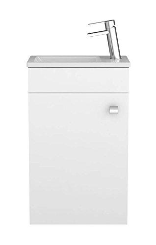 Waschtischunterschrank Gabun in weiß - Unterschrank Badmöbel Badezimmermöbel Waschtisch von Sieper Made in Germany