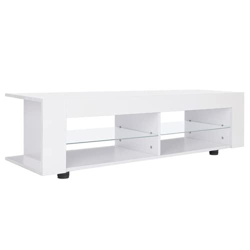 Ejoyous Mueble de TV, Soporte de TV con Luces LED RGB para Sala de Estar para el hogar para el Dormitorio